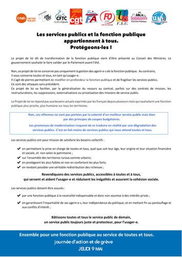 e7e6e20ab33 Manifestation unitaire pour la fonction publique -