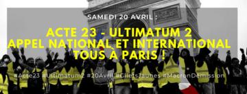 foto de Planning de la Manifestation des Gilets jaunes à Paris le