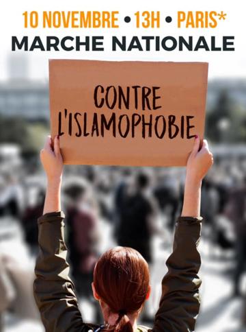 Image result for marche contre l'islamophobie novembre paris affiche