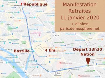Pour Defendre Les Retraites A Paris Le Samedi 11 Janvier 2020 Le Parcours De La Manifestation Reveil Communiste